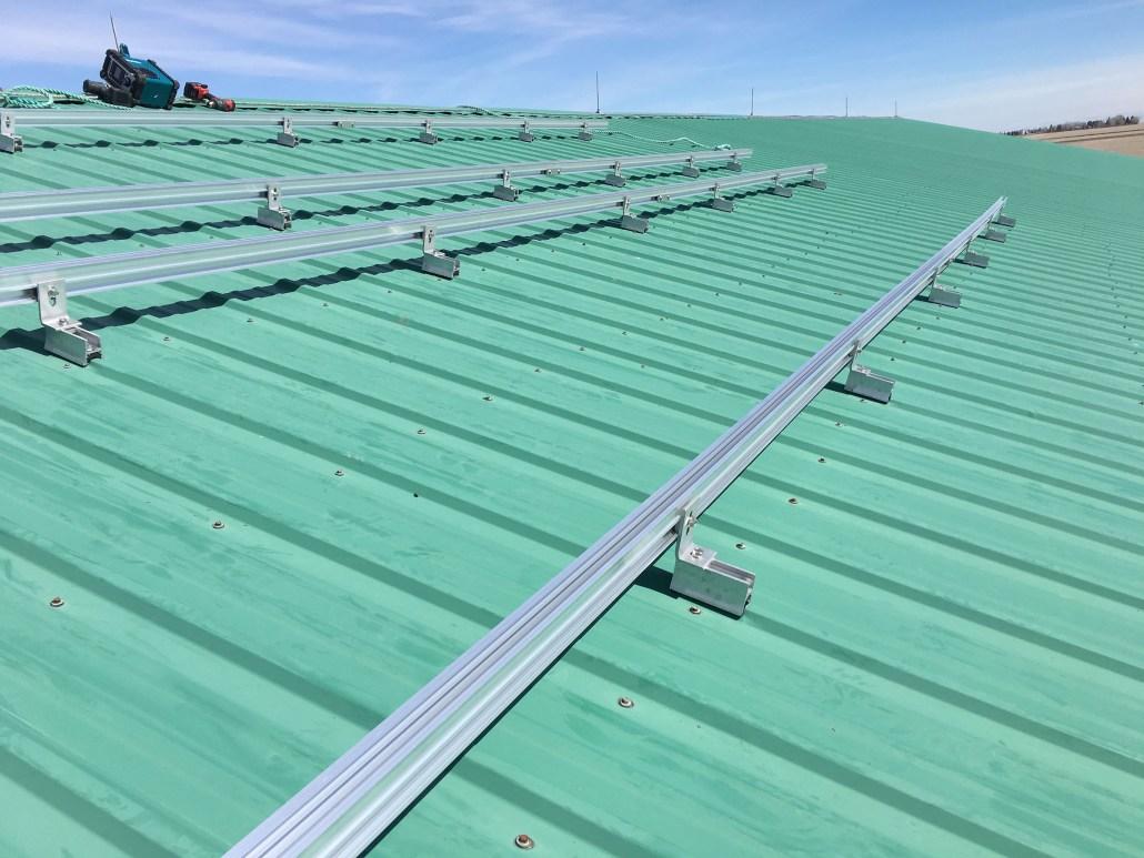 rural solar panel installation