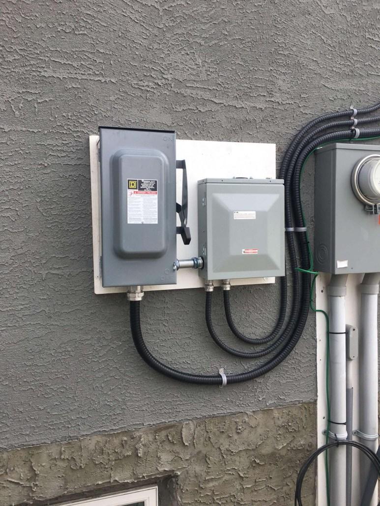Solar panel electrical box