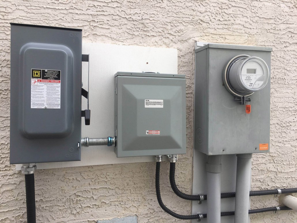 electrical panel hook up for solar panels