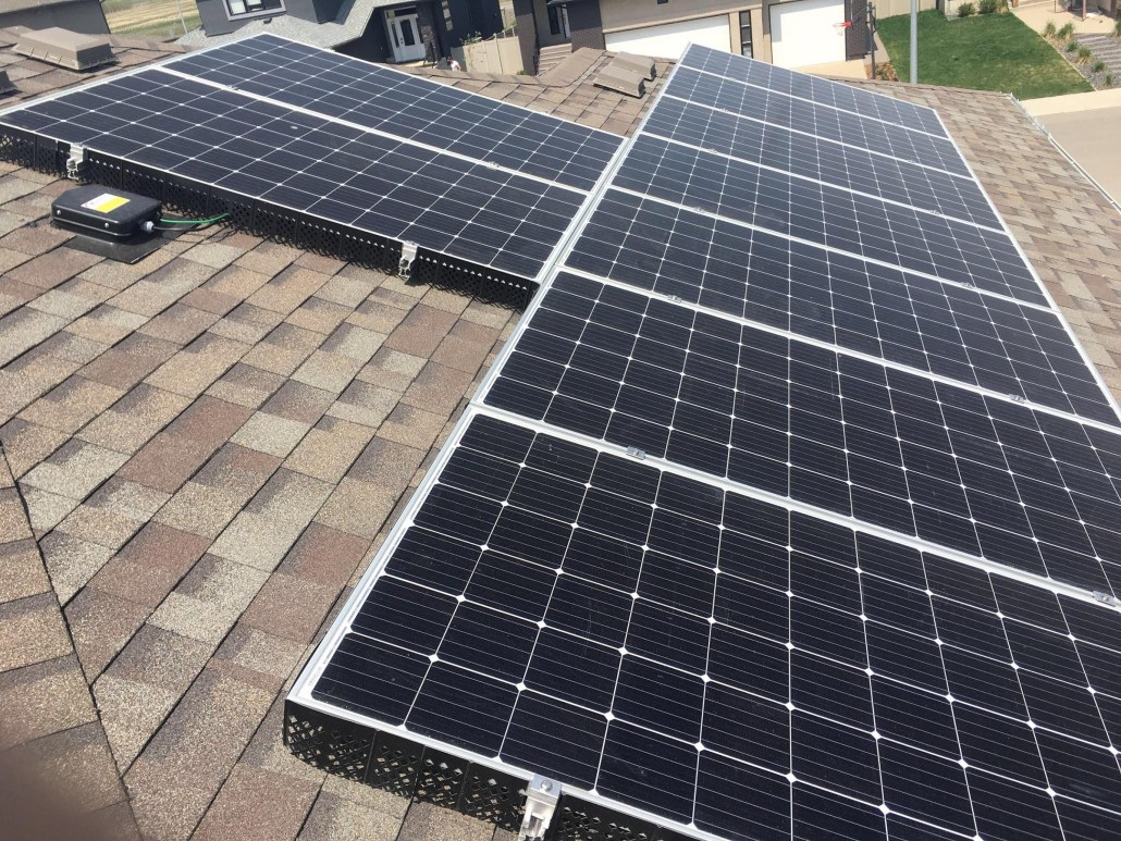 solar panels on a house in regina