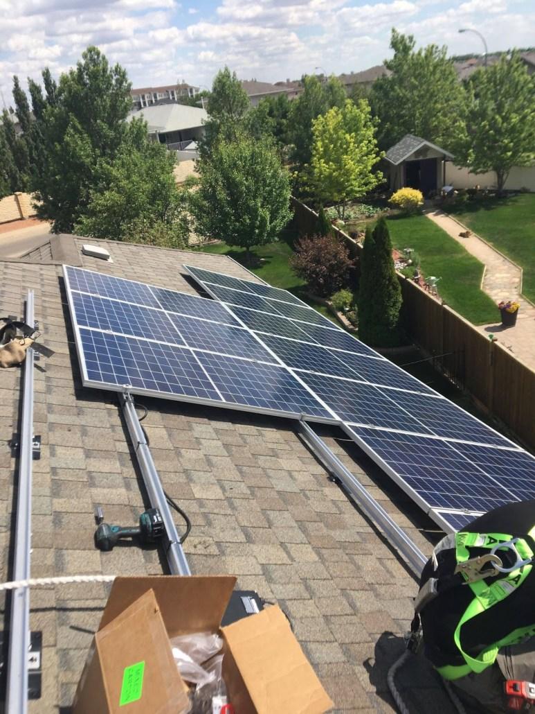 Installing solar panels in Regina Saskatchewan