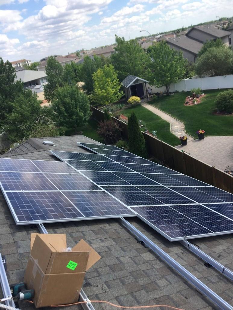 prairie sun solar installing solar panels in Regina
