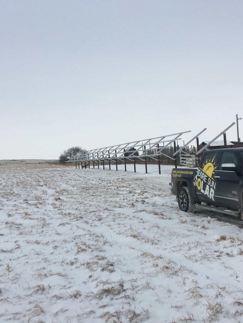 Solar Racking Ground Mount - Saskatchewan