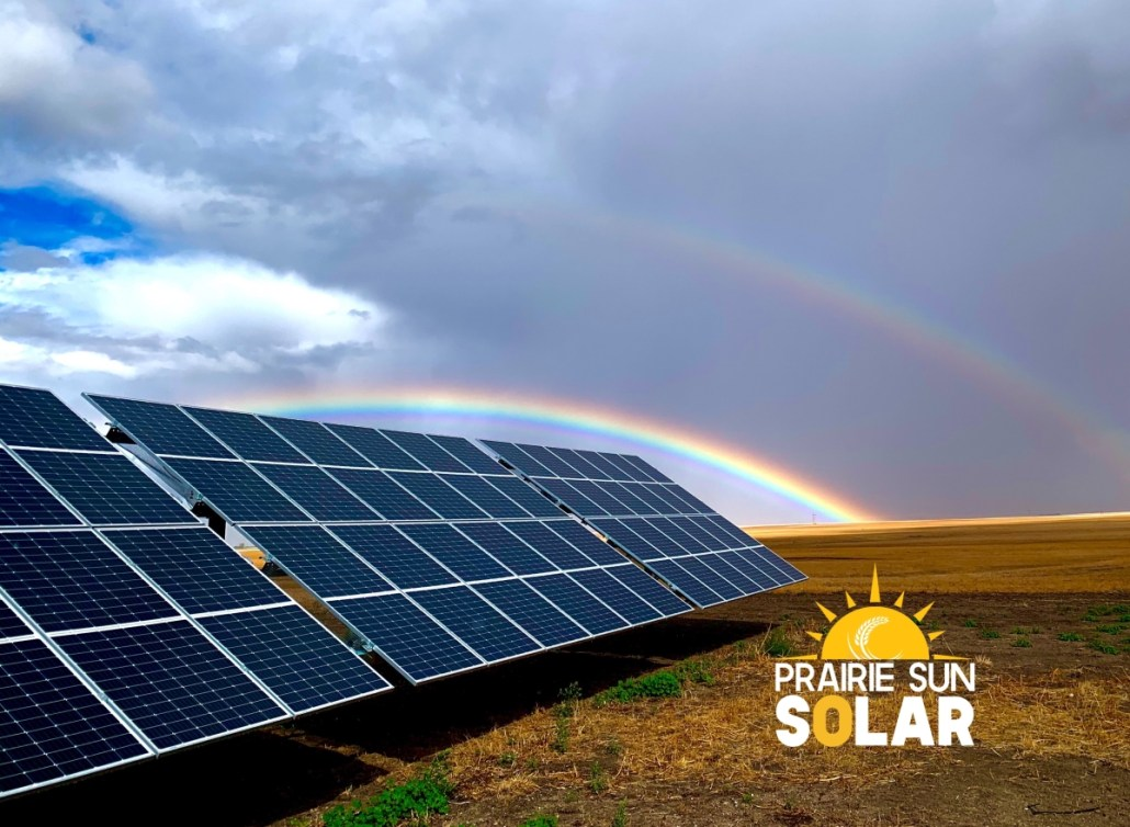 Solar Panels Farm -Prairie Sun Solar - Rainbow - Moose Jaw, Saskatchewan