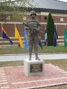 female soldier statue