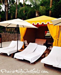 Cabana by the pool