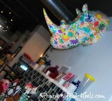 Floral Rhino Head