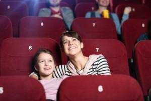 fun mom at movie