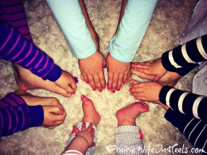 girls hands and feet