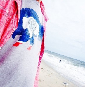 t shirt on beach