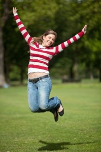 jumping lady