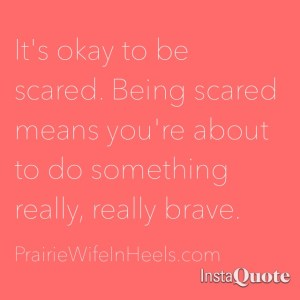 its ok to be scared