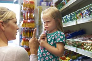 toddler at store