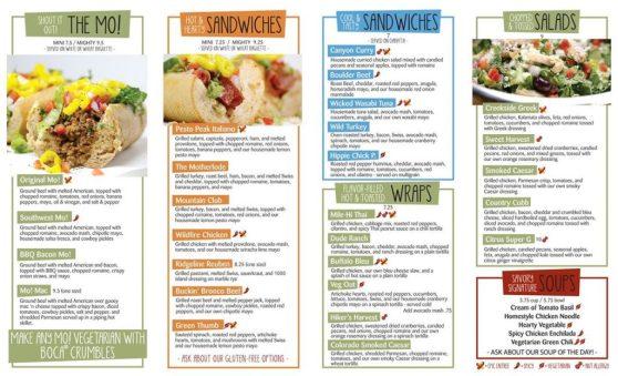 smiling moose menu