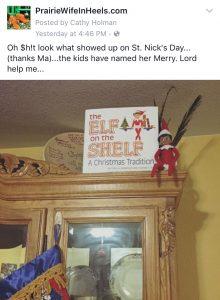 Merry the Elf on a Shelf
