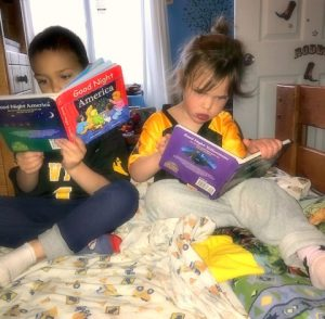 cowkids reading good night books