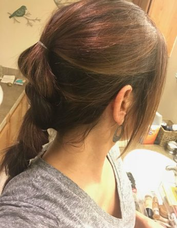 updo with extensions