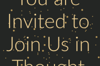Your invitation to join us in thought