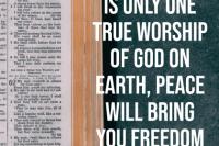 one worship of God