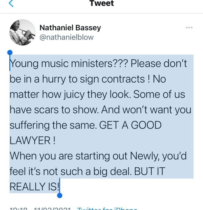From Nathaniel Bassey Instagram