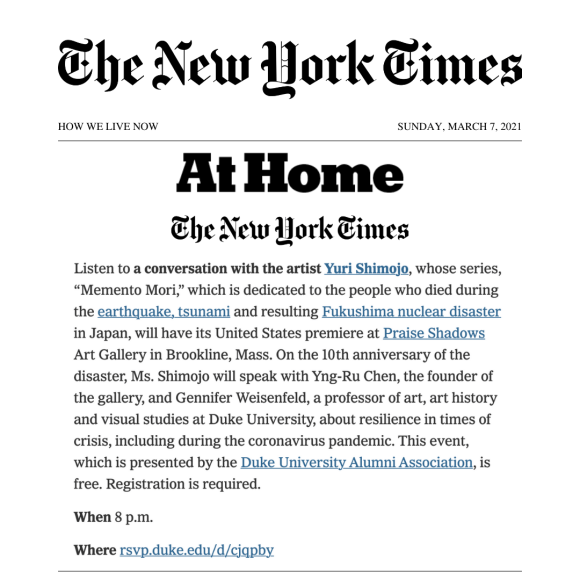 New York Times Things to Do This Week