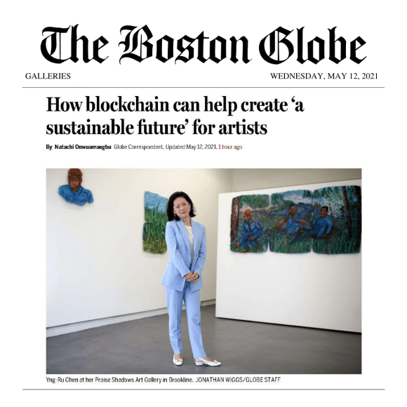 Boston Globe: How blockchain can help create 'a sustainable future' for artists