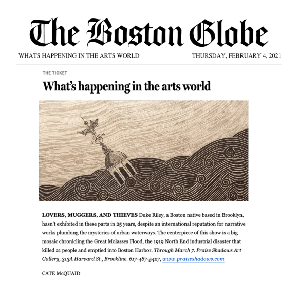 Boston Globe: What's happening in the arts world