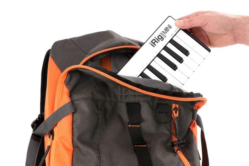 iRig Keys Mini in your backpack