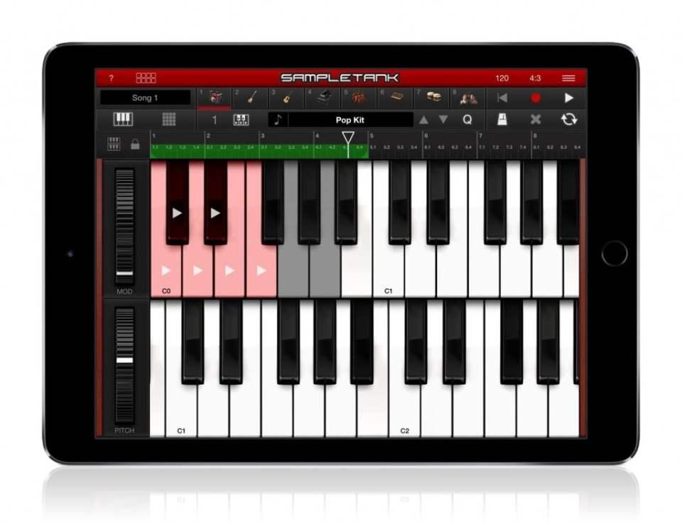 SampleTank 2 iOS Dual Keyboard