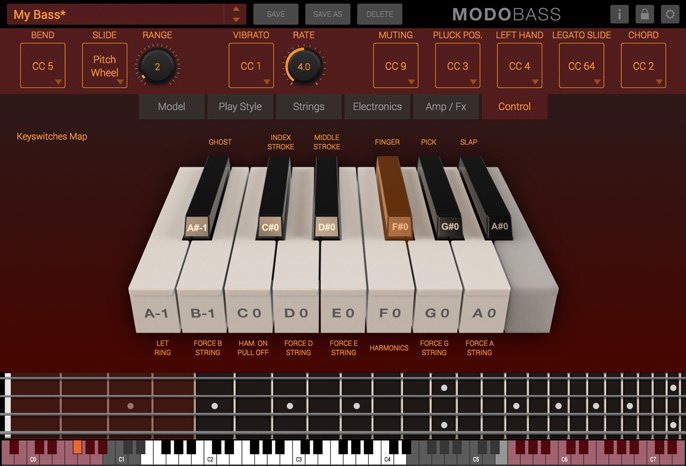 MODO Bass Controller Expressions