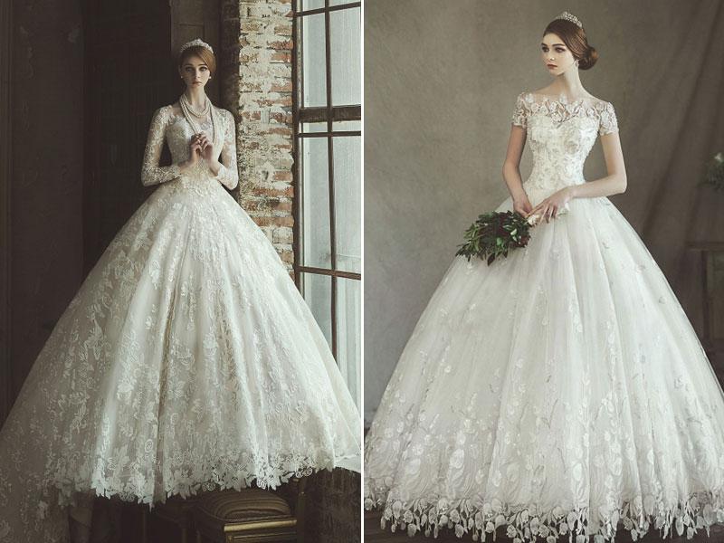24 Elegant Wedding Dresses With Jeweled Botanical