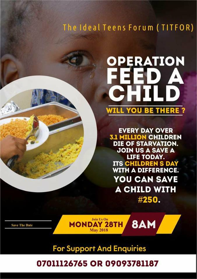 Breaking News: Operation Feed a Child