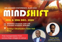 Ablaze Run Conference Alayi 2020 Mindshift