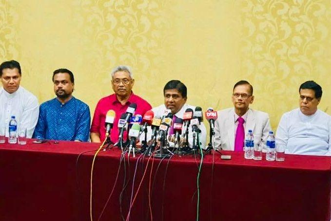 Wijedasa Rajapaksa with Gotabaya Rajapaksa