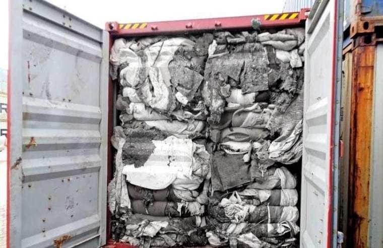 Imported waste of Sri Lanka