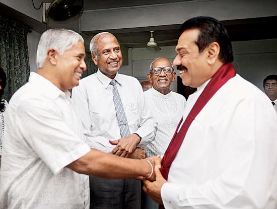 Mahinda Rajapaksa and Sarath Nanda Silva