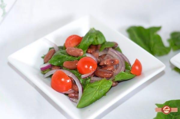 Salata de spanac cu fasole2