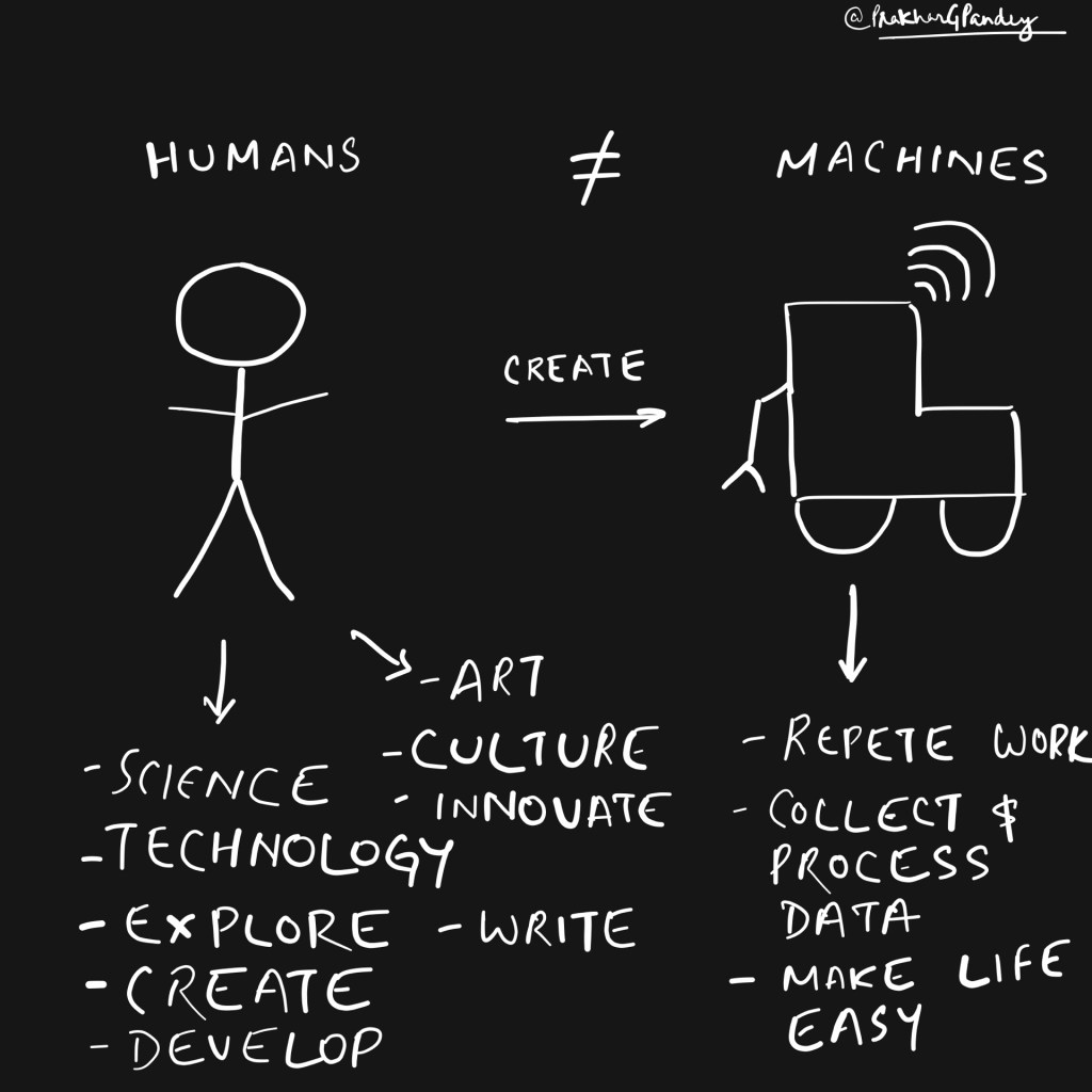 Humans are not machines