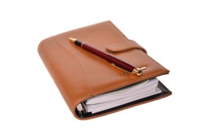επαγγελματική ατζέντα σημειωματάριο