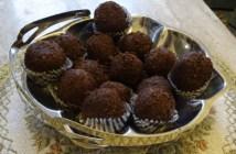 συνταγή για νηστίσιμα τρουφάκια σοκολάτας