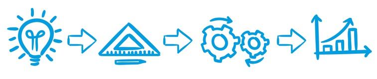 Stick Figure Series Blue / Prozess