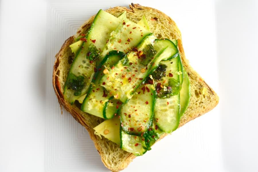 Cucmber and Avocado Toast