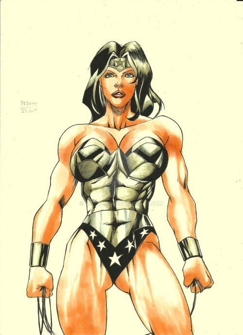 Wonder Woman colored by Pramit