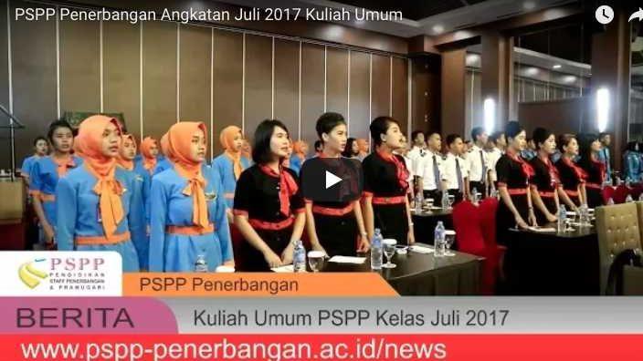 kuliah umum pspp penerbangan, Kuliah Umum PSPP Penerbangan Angkatan Juli 2017