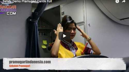 safety demo pramugari cantik
