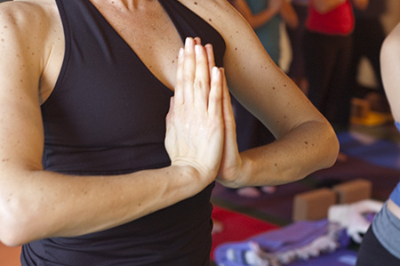Photo: hands at heart in anjali mudra