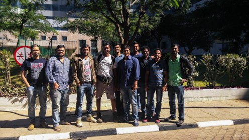 screen left to right, Mridul, Naren, Manmath, Me, Chatrasal,