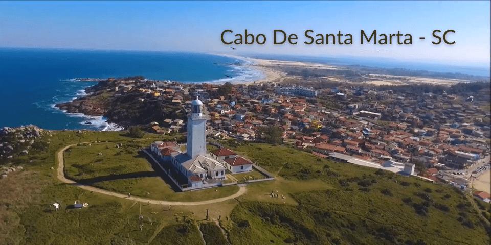 Imagem aérea Farol de Santa Marta