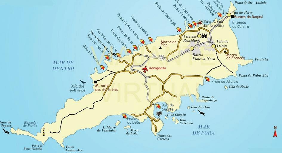 mapa noronha