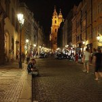 Night-walk in the Streets of Prague